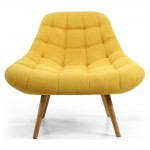 Cocktail Chair Shell Yellow Armchair 097-45-48-05-01 by Shankar
