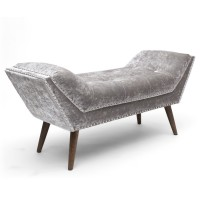 Chaise Lounge - Shankar Mulberry Crushed Velvet Silver Chaise 682-22-19-23-01