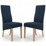 Dining Chair - Pair of Shankar Baxter Polo Blue Dining Chairs 084-06-01-05-03 by Shankar