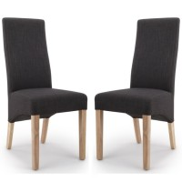 Dining Chair - Pair of Shankar Baxter Charcoal Dining Chairs 084-06-26-05-03 BAXT-CHAL