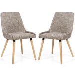 Dining Chair - Pair of Shankar Capri Oatmeal Tweed Dining Chairs 004-03-11-05-01