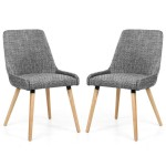 Dining Chair - Pair of Shankar Capri Grey Tweed Dining Chair 004-03-41-05-01