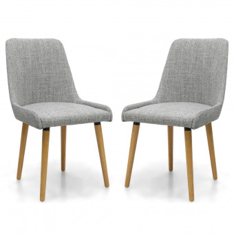 Dining Chair - Pair of Capri Grey Dining Chairs 004-33-01-05-01 by Shankar
