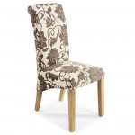 Dining Chair - Pair of Karta Floral Dining Chairs 009-08-12-05-02 by Shankar