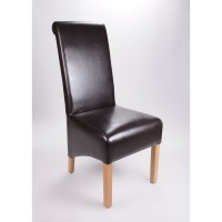 Shankar Krista Bonded Leather Dining Chairs KRIS-DCL-BROWN