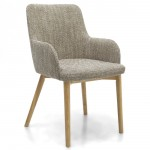Dining Chair - Pair of Sidcup Oatmeal Tweed Dining Chairs 086-03-11-05-01