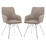 Dining Chair - Pair of Shankar Sidcup Oatmeal Tweed Dining Chair 086-03-11-10-01