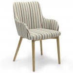Dining Chair - Pair of Sidcup Duck Egg Blue Stripe Dining Chairs 086-04-11-05-01