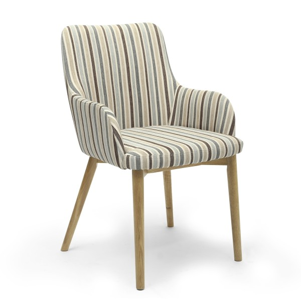 Shankar Sidcup Duck Egg Blue Stripe Dining Chairs SID-DCF-STRP-DEB
