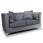 Grey Sofa - Shankar Dorchester Diamante 2 Seater Sofa 802-09-03-10-01