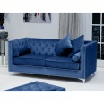 Sofas - Shankar Dorchester Ocean Blue Brushed Velvet 3 Seater Sofa 807-09-32-10-01