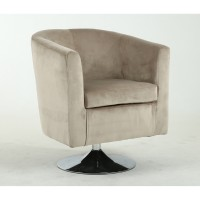 Tub Chairs - Shankar Swivel Tub Chair in Brushed Velvet Mink 013-09-02-10-01