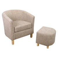 Armchairs - Shankar Tweed Tub Chair and Stool 057-03-11-05-01