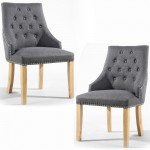 Dining Chair - Pair of Shankar Camberwell Steel Grey Accent Chairs 049-05-06-05-01