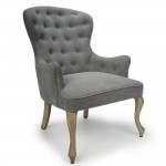 Accent Chair Melrose Grey Button Back 025-15-01-14-03 by Shankar