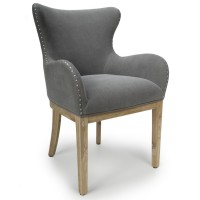 Accent Chair Melrose Grey Wing Back 026-15-01-14-03 by Shankar