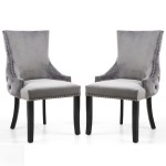 Accent Chair Pair of Grey Brushed Velvet Winslow 098-09-03-CC by Shankar