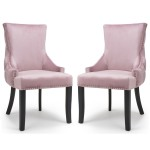 Accent Chair Pair of Pink Brushed Velvet Winslow 098-09-62-CC by Shankar