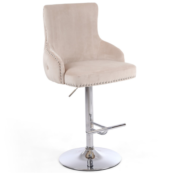 Barstools - Cairo Luxury Mink Bar Stool 200-09-02-10-01 by Shankar