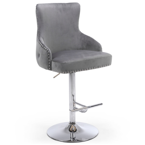 Barstools - Cairo Luxury Grey Bar Stool 200-09-03-10-01 by Shankar