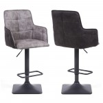 Pair of Barstools Light Grey Orion Bar Stool 107-46-46-30-01 by Shankar