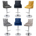 Barstools - Rocco Luxury Grey Bar Stool 019-09-03-10-01 by Shankar