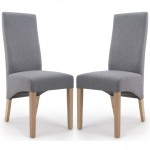 Dining Chair - Pair of Shankar Baxter Steel Grey Dining Chairs 084-05-06-05-03 by Shankar