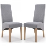 Dining Chair - Pair of Shankar Baxter Silver Grey Dining Chairs 084-05-09-05-03 by Shankar