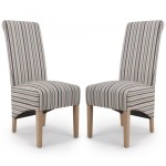 Dining Chair - Pair of Shankar Krista Stripe Dining Chairs 001-04-11-05-03