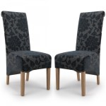 Dining Chair - Pair of Shankar Krista Baroque Dining Chairs in Charcoal 001-34-26-05-03