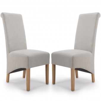 Dining Chair - Pair of Shankar Krista Herringbone Dining Chairs in Cappuccino 001-37-34-05-03