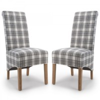 Dining Chair - Pair of Shankar Krista Herringbone Check Dining Chairs 001-38-34-05-03