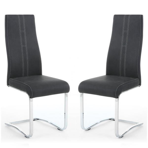 Dining Chair - Pair of Shankar Nova Grey Dining Chairs 067-14-19-10-01