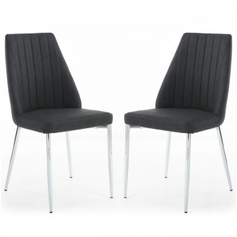 Dining Chair - Pair of Shankar Odeon Grey Dining Chairs 091-14-19-10-01