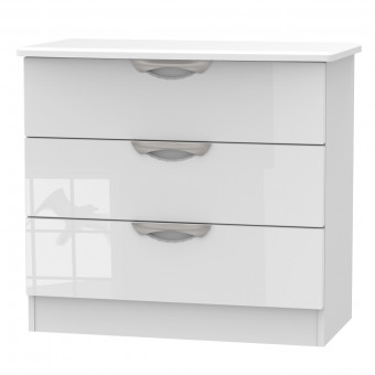 Assembled Bedroom Chest 3 Drawer Camden in White CAM010WGW by Welcome Furniture