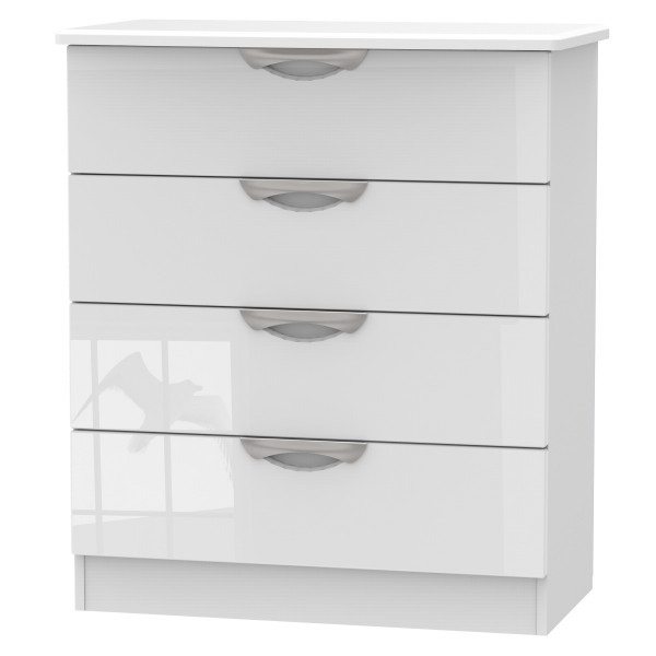 Assembled 4 Drawer Chest Camden White CAM011WGW by Welcome Furniture