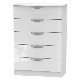 Bedroom Chest 5 Drawer Camden White CAM012WGW by Welcome Furniture