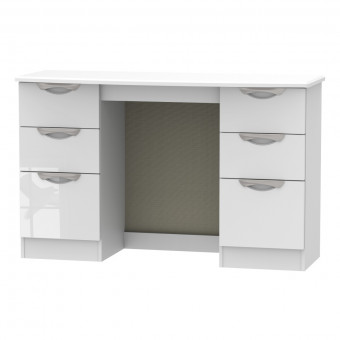 Kneehole Dressing Table Camden White CAM030WGW by Welcome Furniture