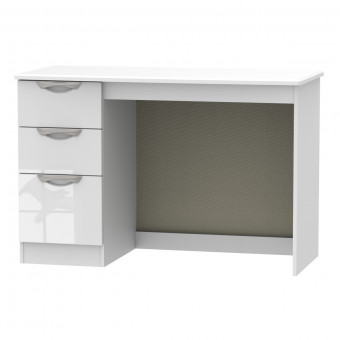 Desk with 3 Drawers Camden White CAM032WGW by Welcome Furniture