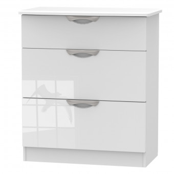 Bedroom Chest 3 Drawer Deep Chest Camden White CAM049WGW by Welcome Furniture