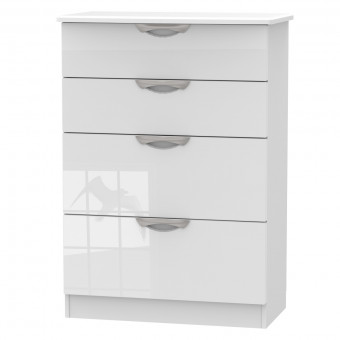 Bedroom Chest 4 Drawer Deep Chest Camden White CAM050WGW by Welcome Furniture