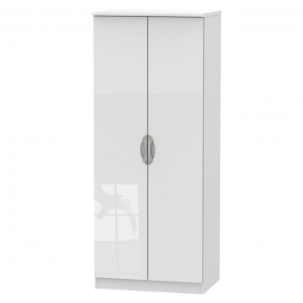 White Double Wardrobe Camden CAM060WGW by Welcome Furniture