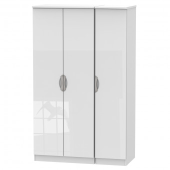 White Triple Wardrobe Camden CAM130WGW by Welcome Furniture