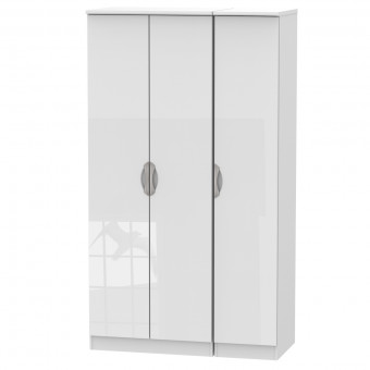 Tall Triple Wardrobe Camden White CAM140WGW by Welcome Furniture