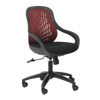 Alphason Croft AOC1010-M-R Red Mesh Back Executive Chair