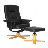 Alphason Drake Recliner Managers Chair ARC7595-PU-BLK/BR