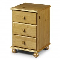 Julian Bowen Pickwick 3 Drawer Bedside Chest PIC102