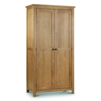Double Wardrobe - Julian Bowen Marlborough Oak 2 Door Wardrobe MAR208