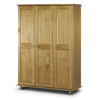 Julian Bowen Pickwick 3 Door Wardrobe Fitted Interior PIC109