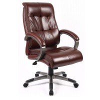 Dams Catania Leather Faced Managers High Back Chair CAT300T1
